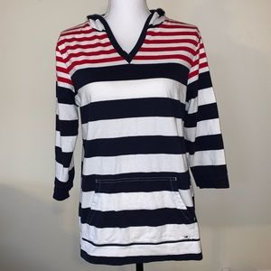 Tommy Hillfiger Hooded 3/4 sleeve shirt size L